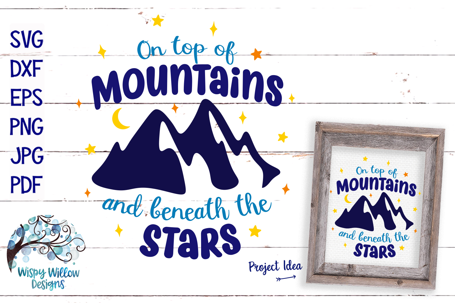Camping SVG Cut File Bundle | Mountains SVG example image 6