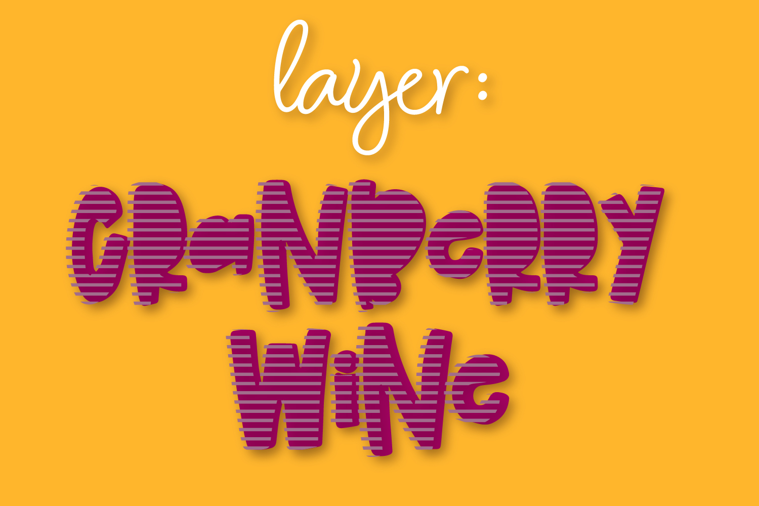 Cranberry Wine - A Striped Font Family of 6 New Fonts! example image 9