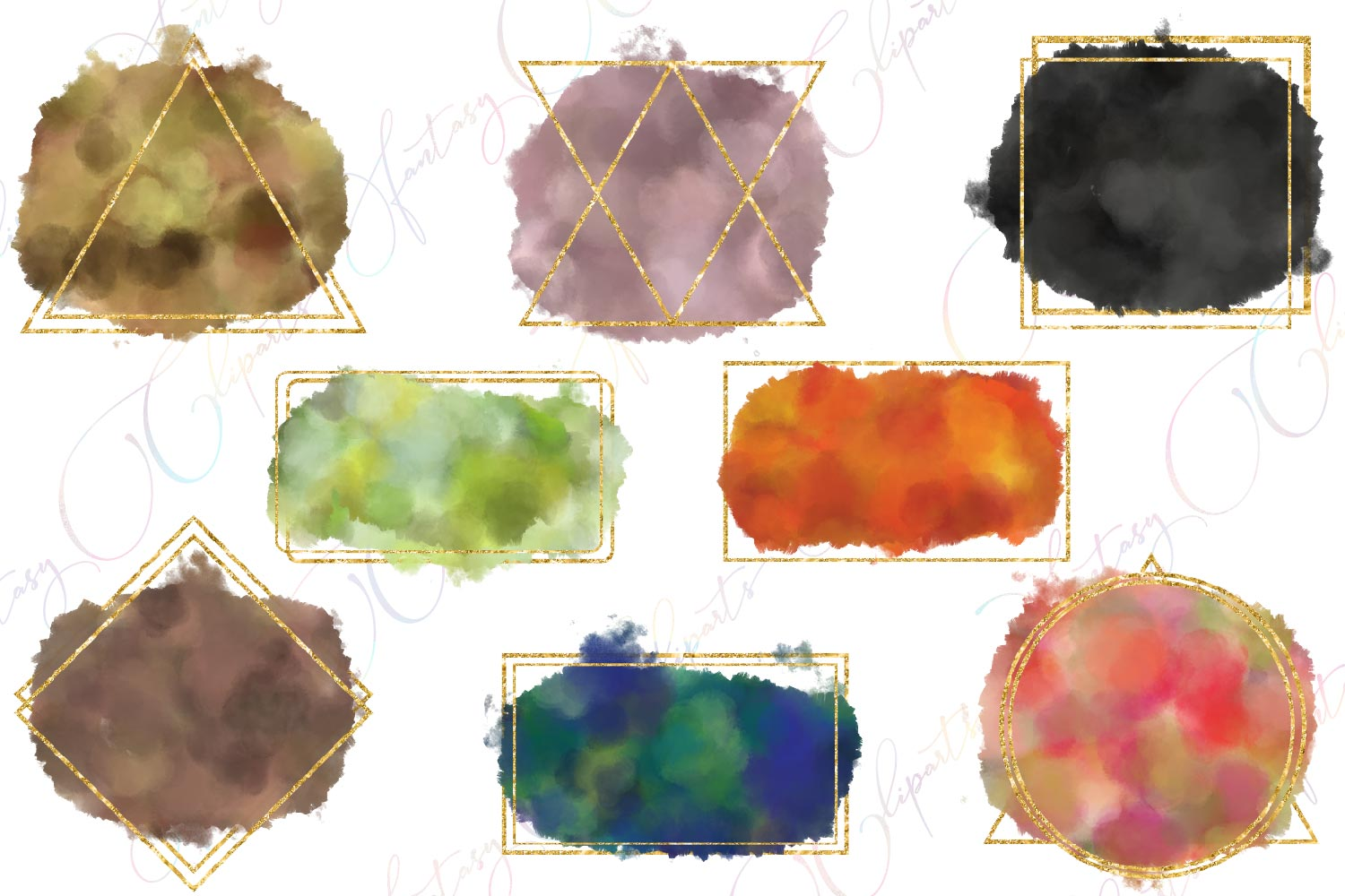 Watercolor Splashes Clipart example image 2