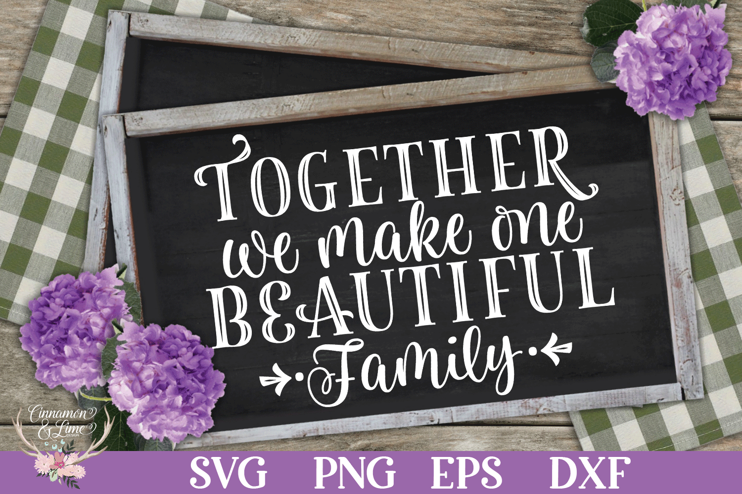 Together We Make One Beautiful Family SVG example image 1