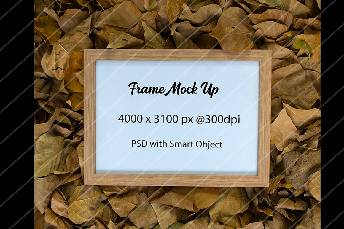 Frame Mock Up-Autumn Theme example image 1