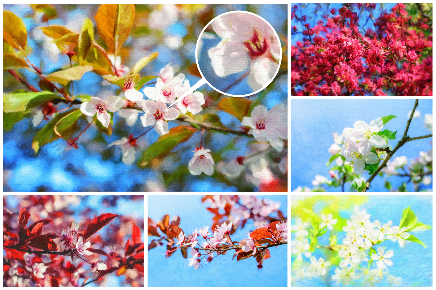Spring Flowers and Paintings Bundle example image 6