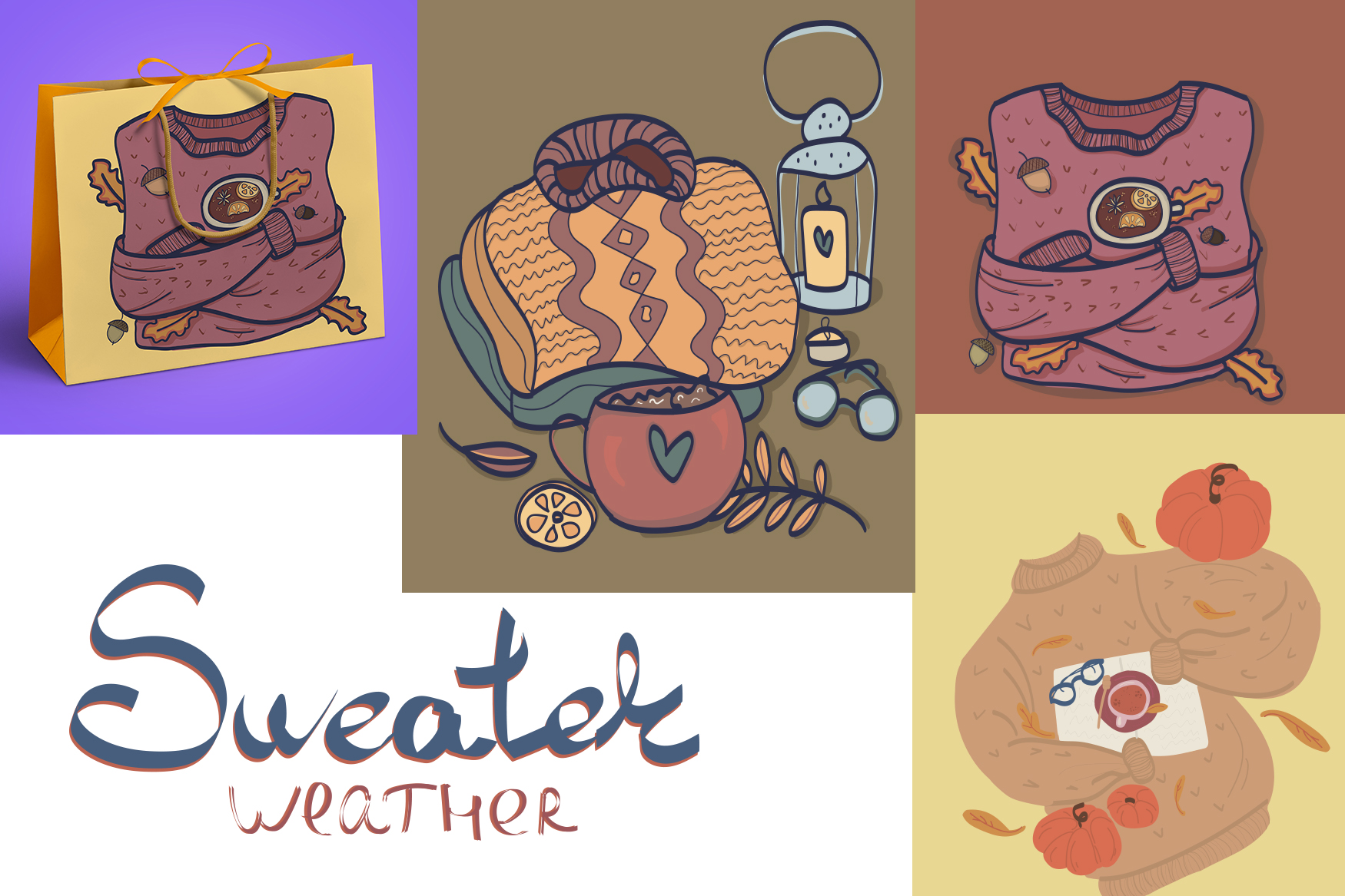 Autumn cozy elements, charaster and poster example image 5