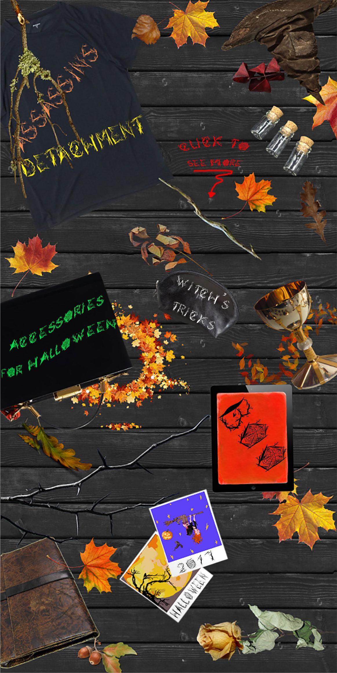 Halloween woody alphabet example image 6
