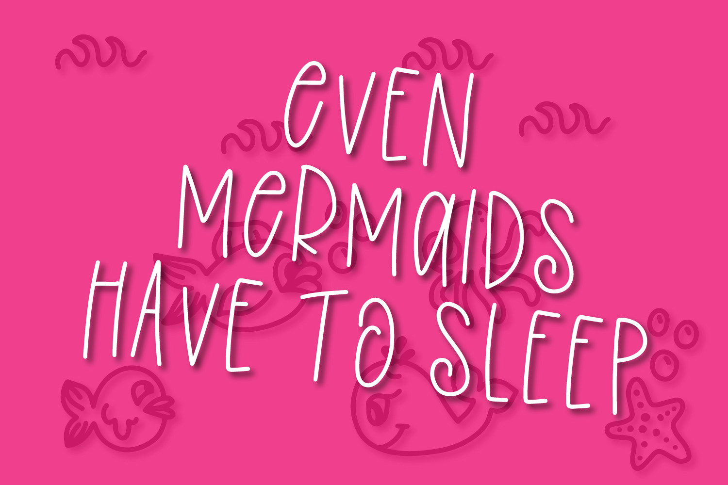 Overboard - A Mermaid Font Duo - Dingbat Font example image 2