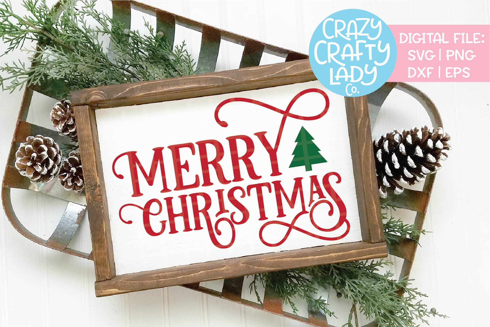 Merry Christmas SVG DXF EPS PNG Cut File example image 1