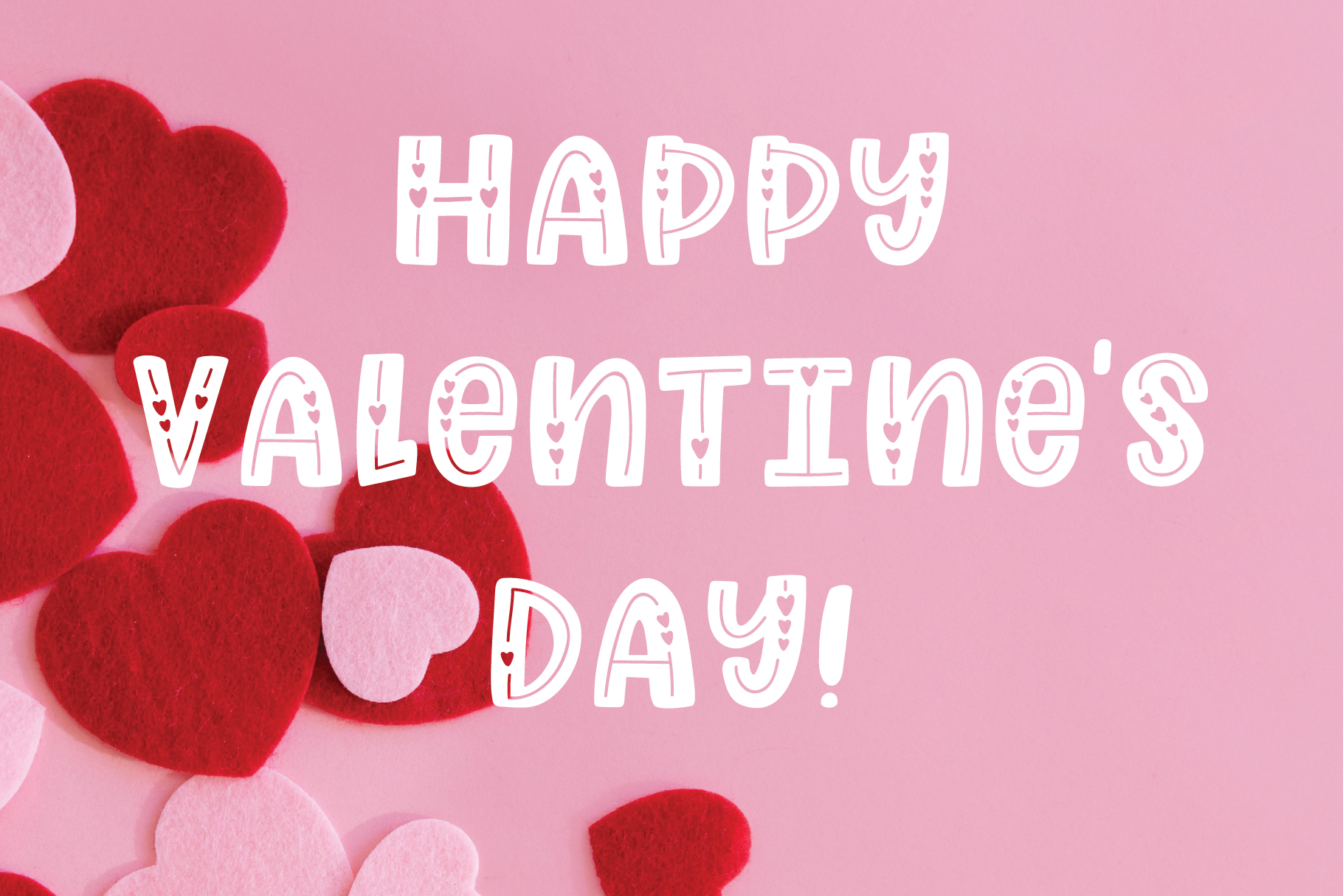 Love Struck, Thick Valentine's Heart Font example image 4