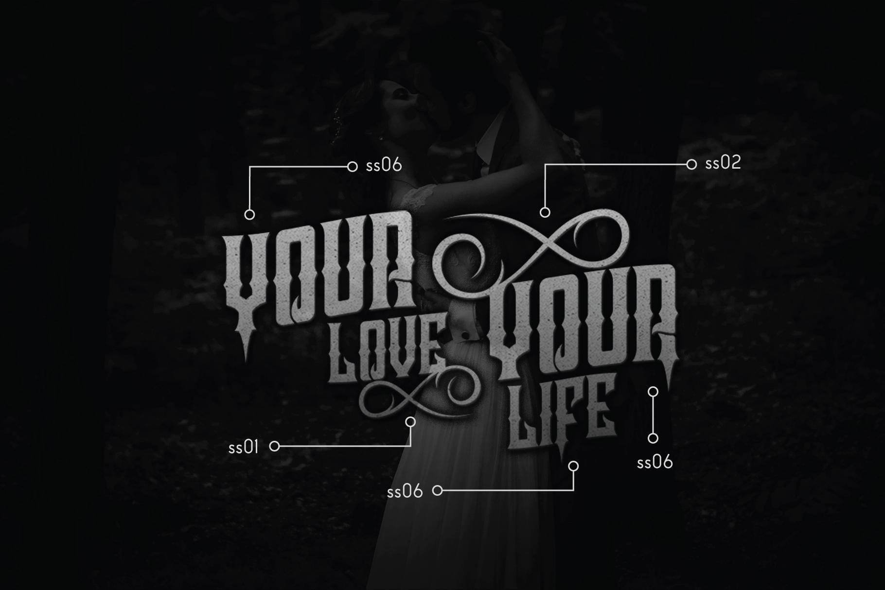 Crozzoe Decorative Serif Typeface example image 2
