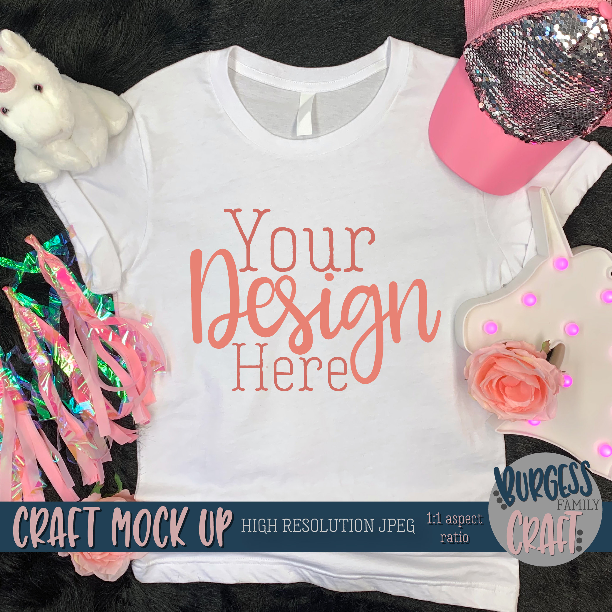 Pink explosion shirt Craft mock up | High Resolution JPEG example image 2