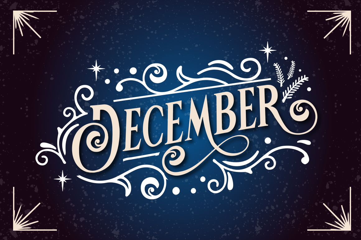 Vondey - Holiday font & ornaments example image 3