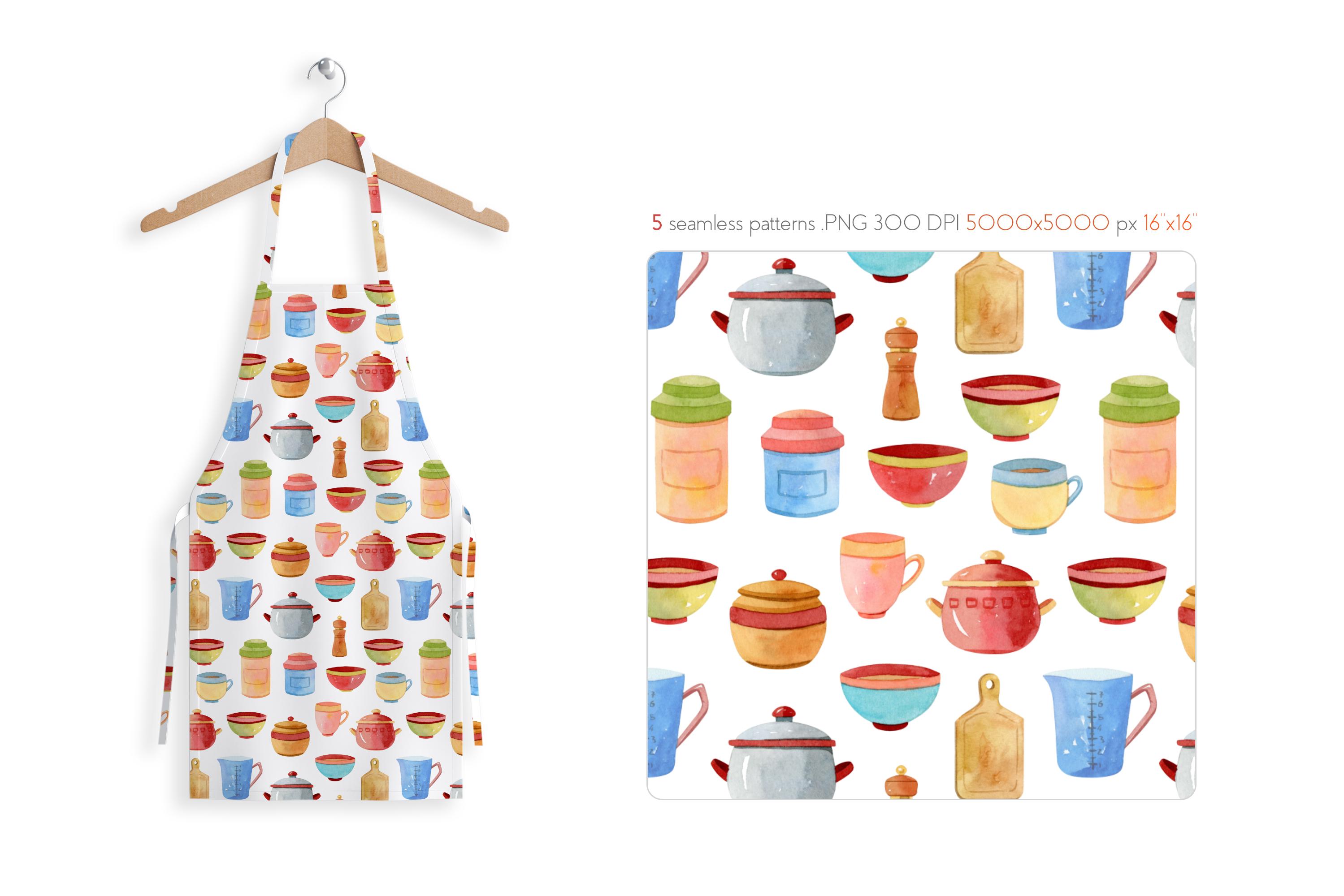 Watercolor Kitchen Utensils Set 2 example image 8
