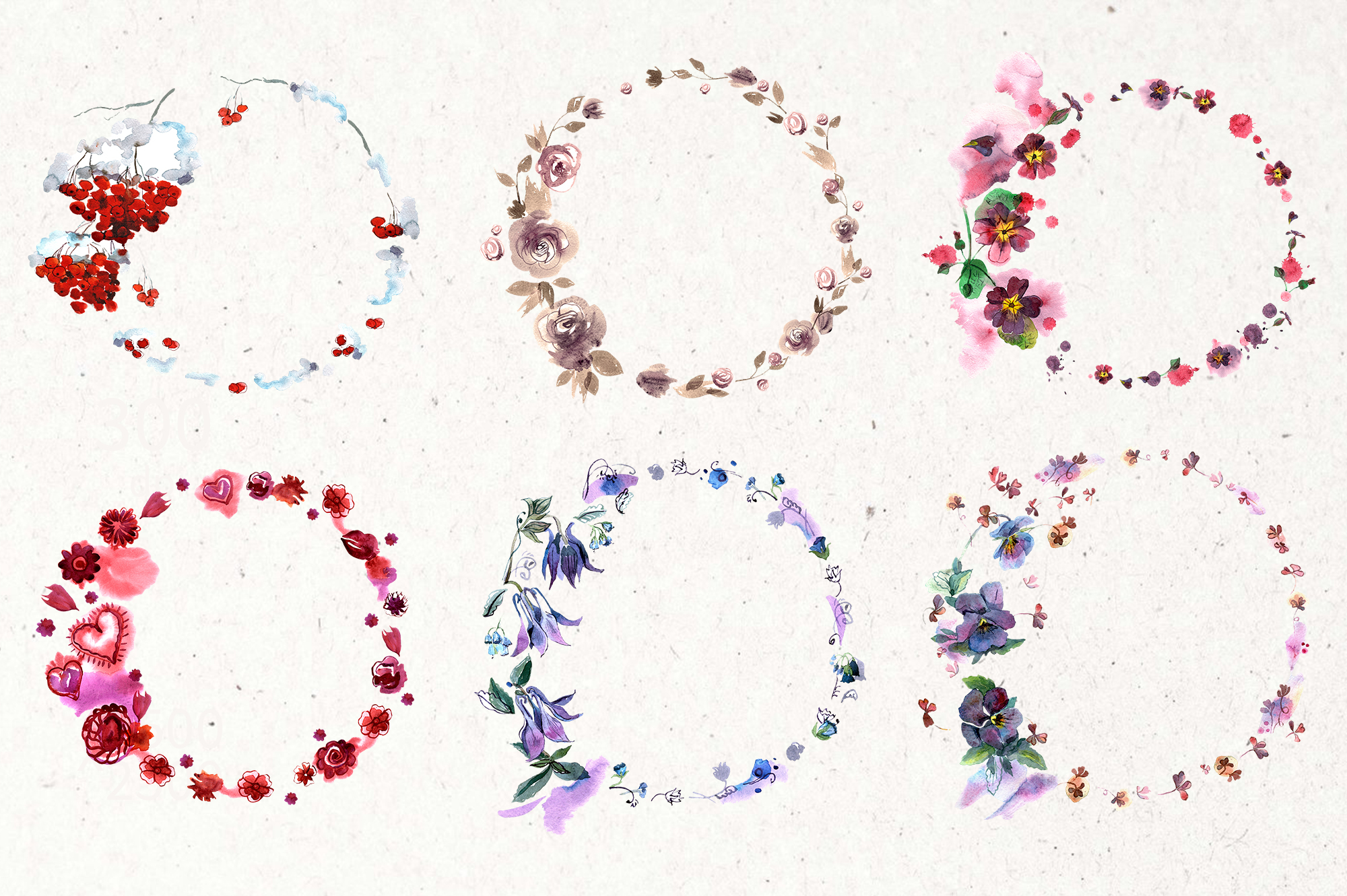 30 Watercolor Floral Wreaths example image 3
