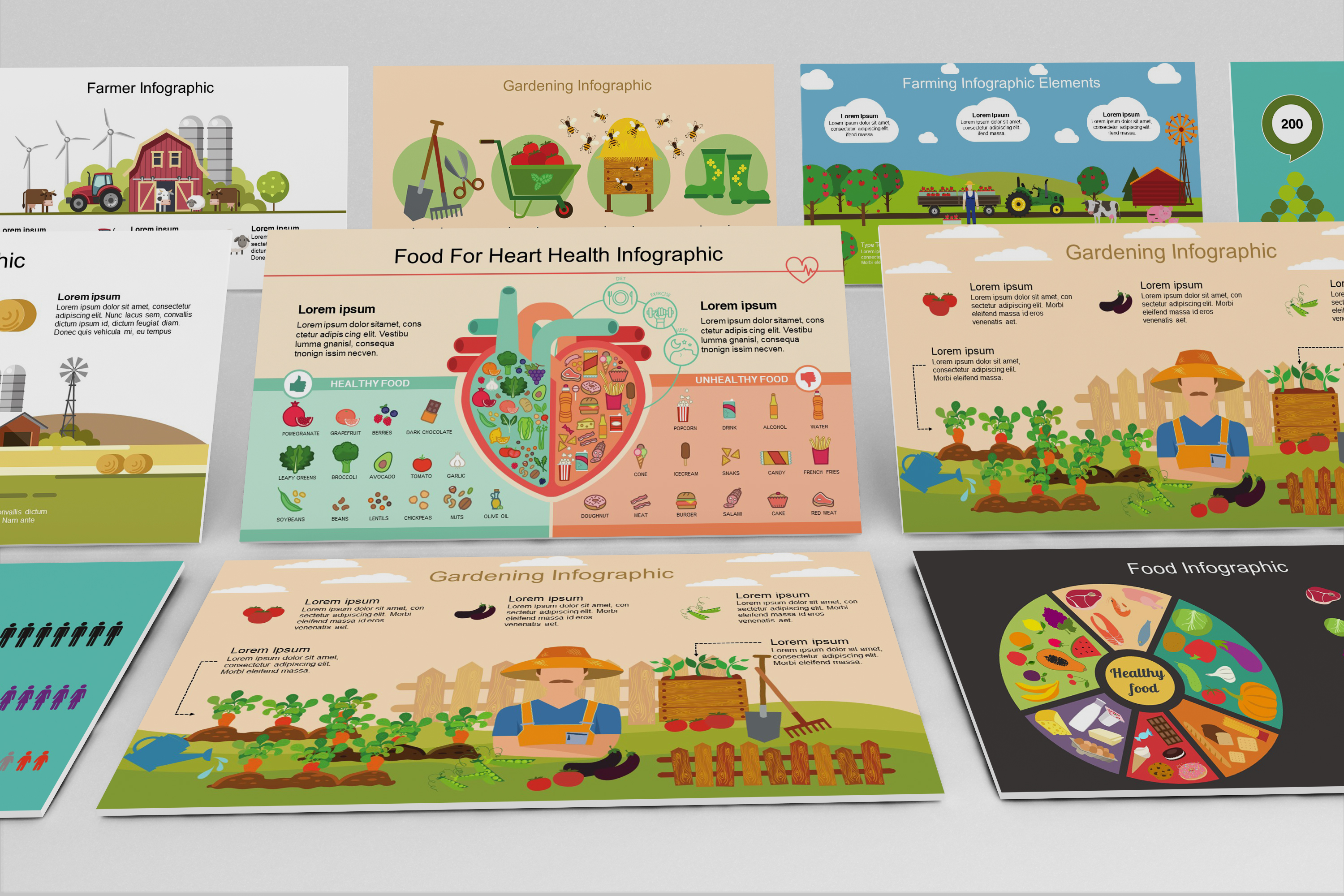 Mega Food PowerPoint Infographic Set example image 5