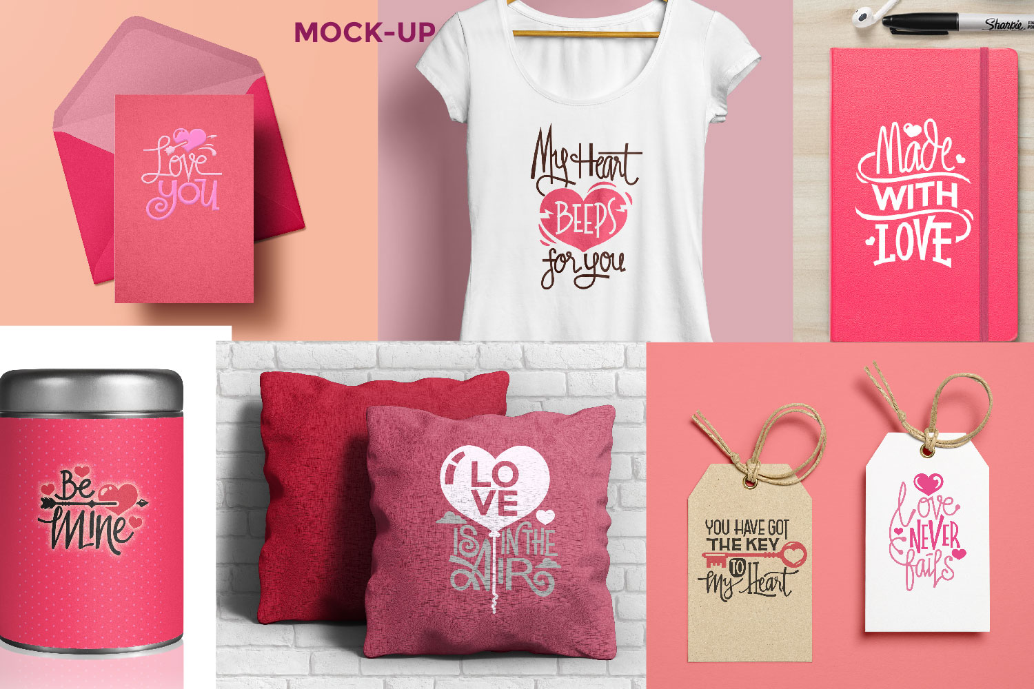 Valentine's Day Quotes Collection Cutting File example image 5