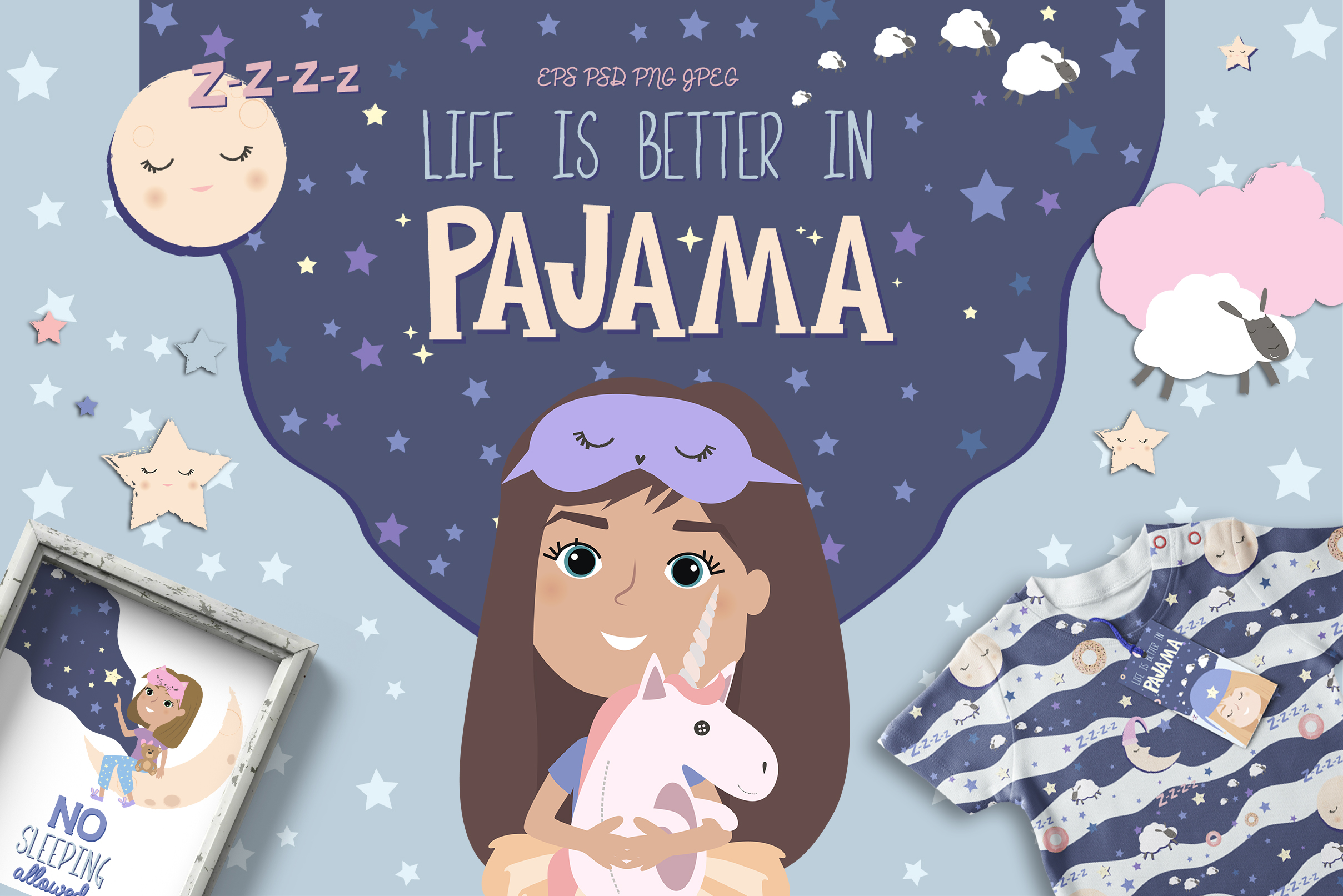 Life is better in PAJAMA example image 1