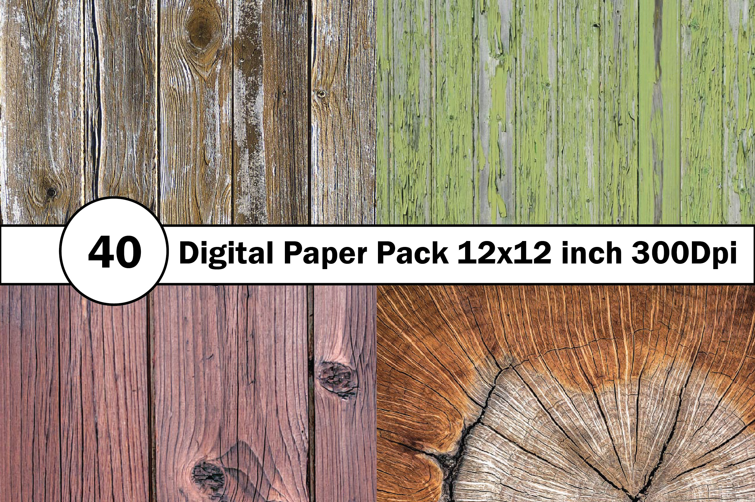 40 Digital Paper Pack 12x12 inch 300 Dpi example image 10