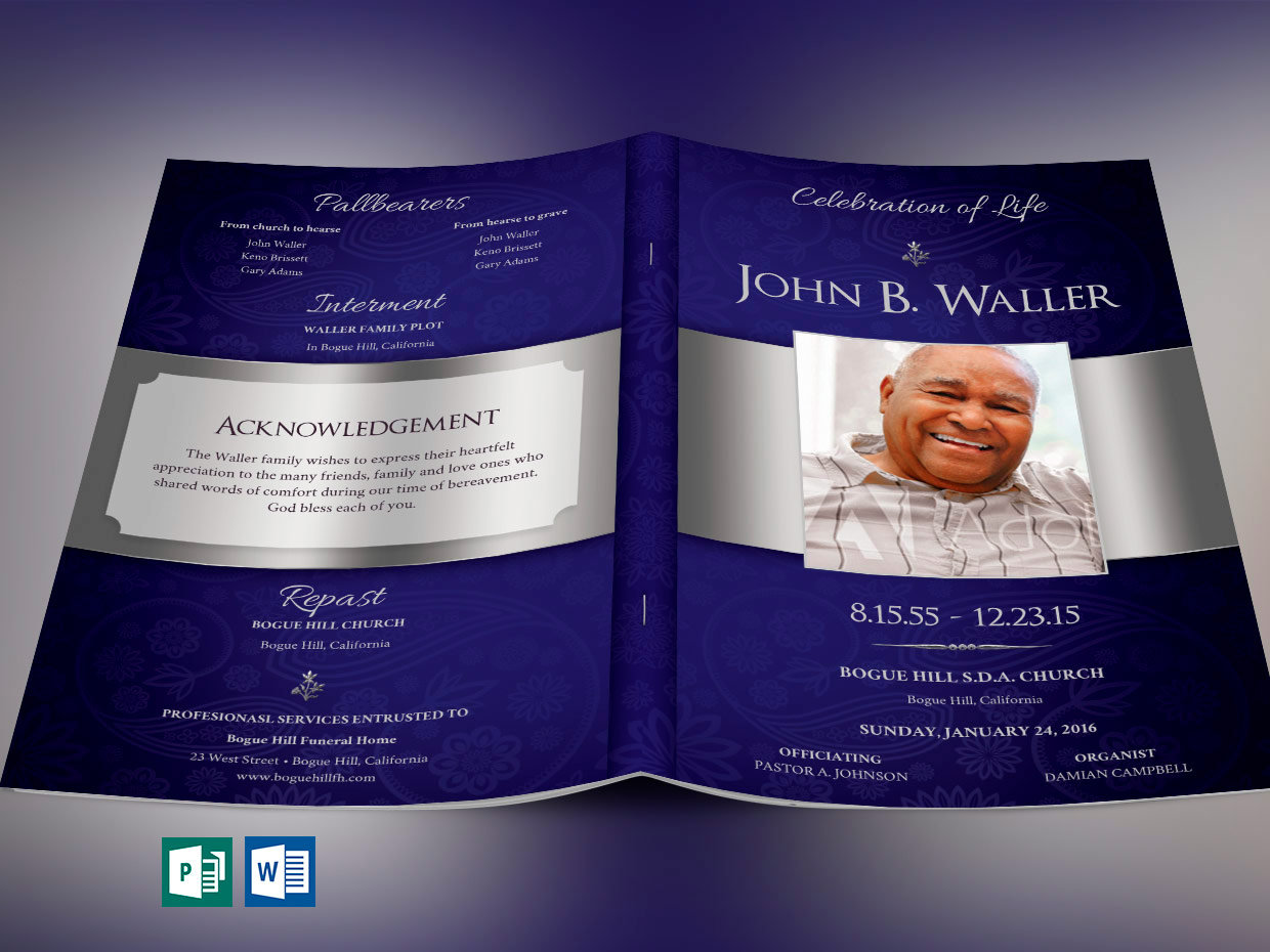 Best Seller Funeral Program Template Bundle example image 8