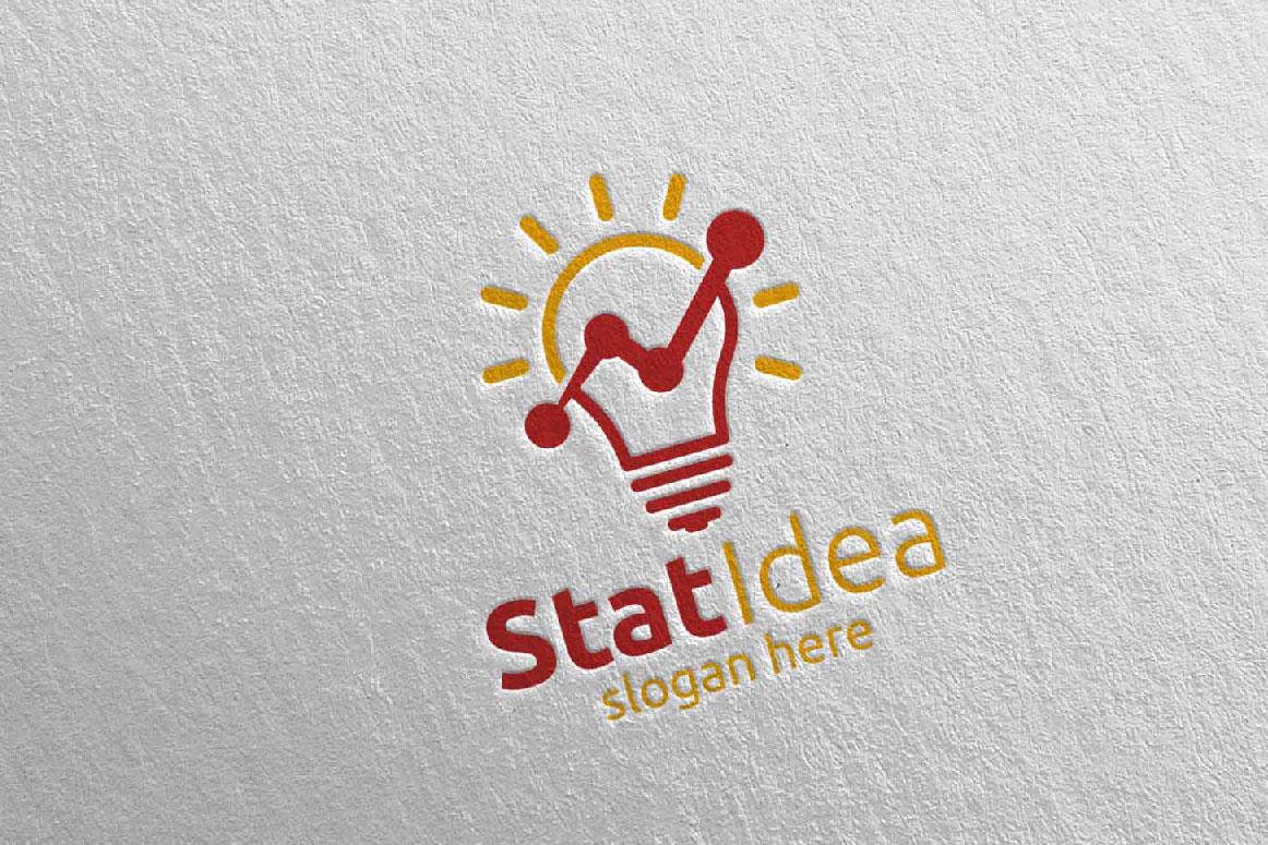 Stat Idea Marketing Financial Advisor Logo Design 16 example image 2