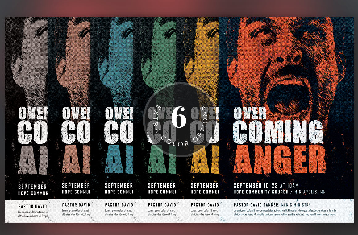 Overcoming Anger Flyer Template example image 5