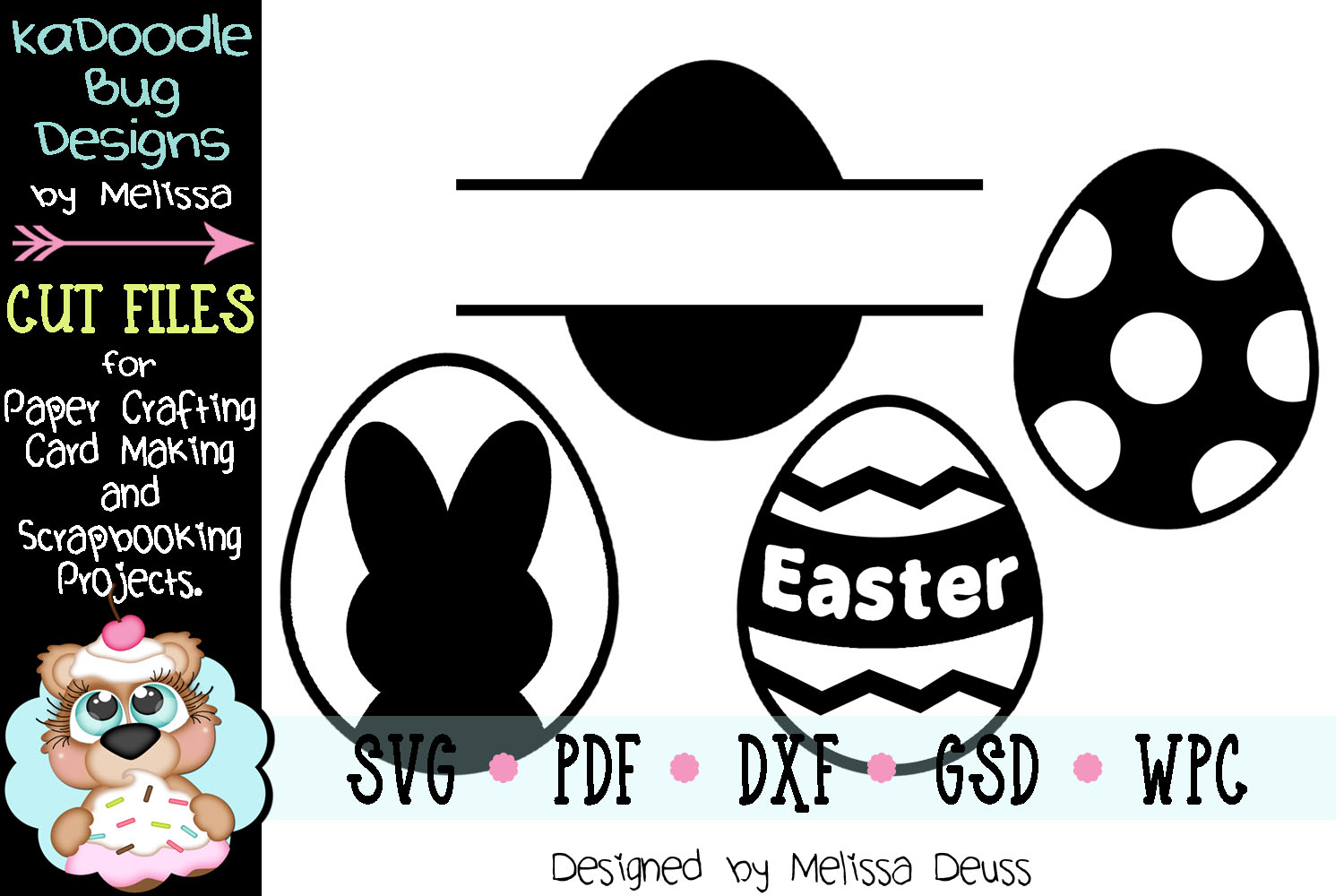 Easter Eggs Vinyl Cut File - SVG PDF DXF GSD WPC example image 1