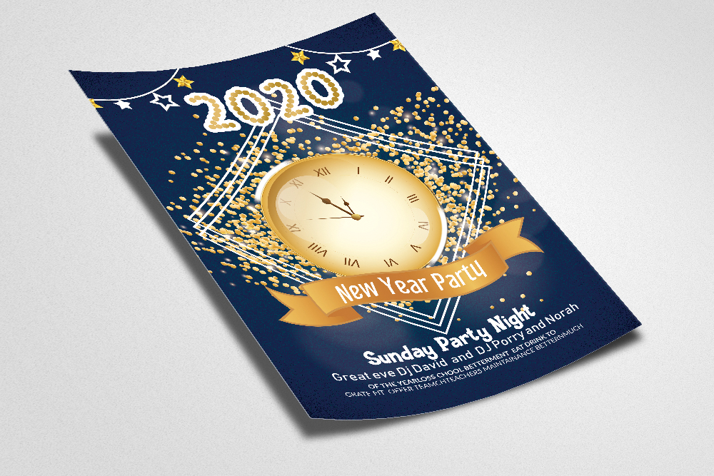 Happy New Year Party Flyer/Poster example image 2