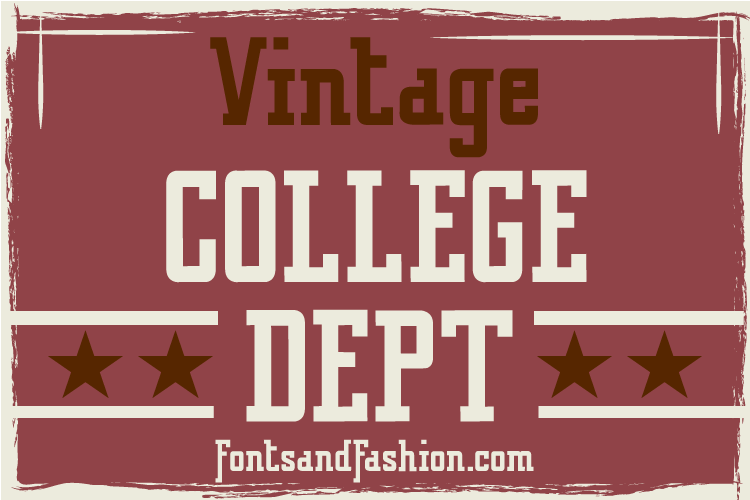 Vintage College Dept_Pack example image 13