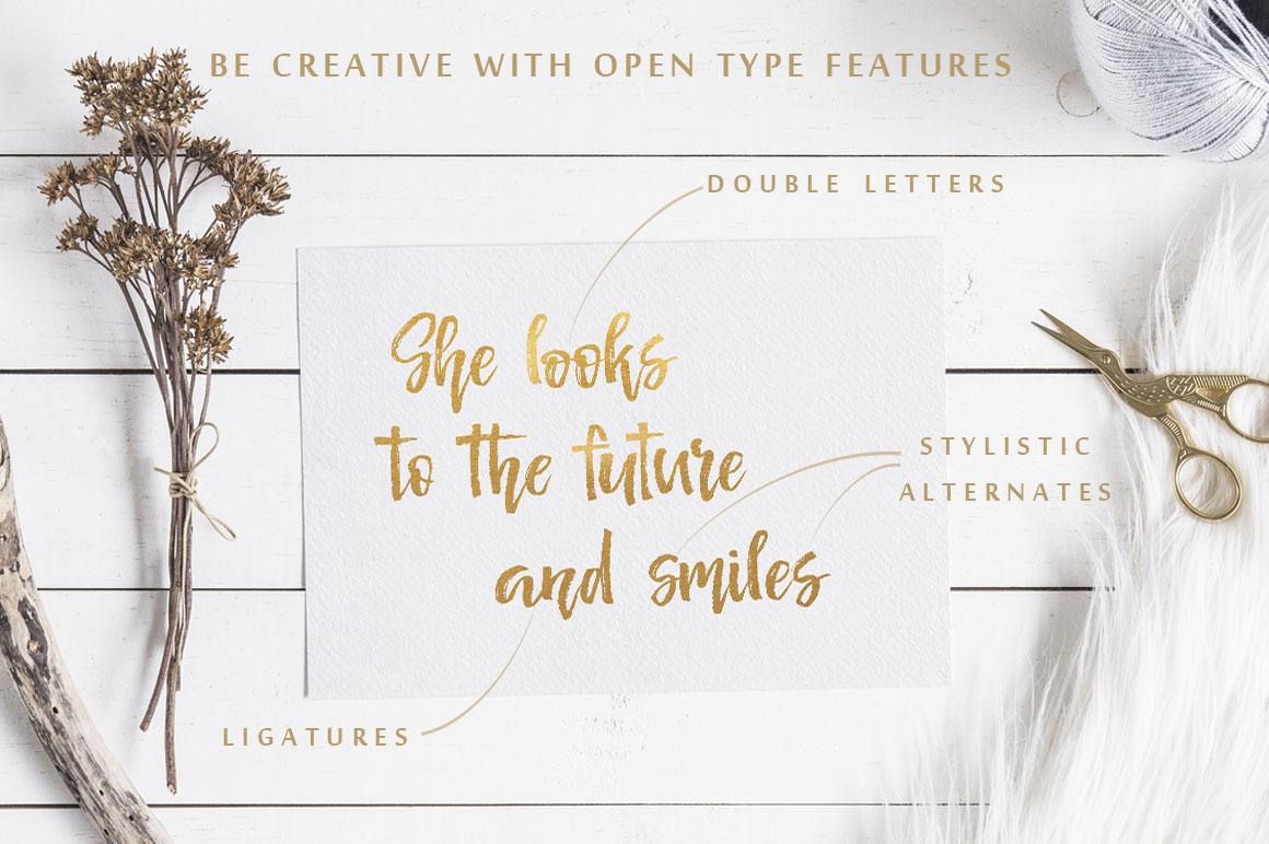 Señorita Handwritten Textured Font example image 3