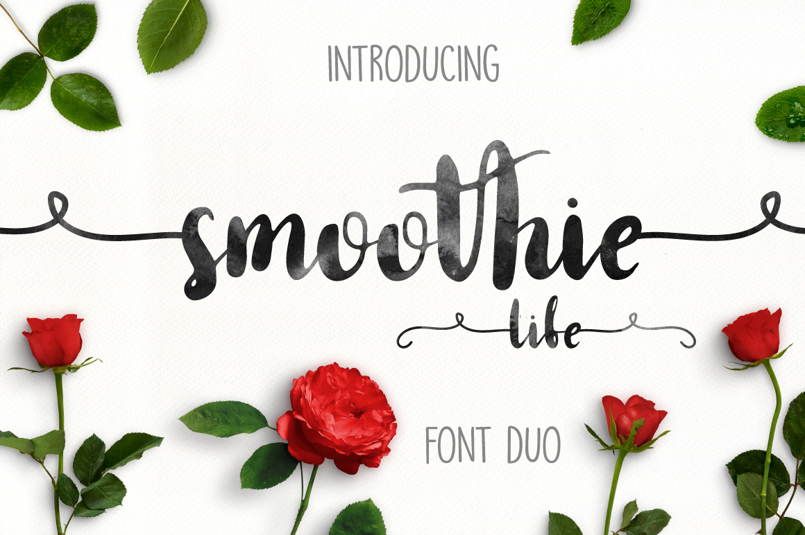 Smoothie Life [Font Duo] example image 1
