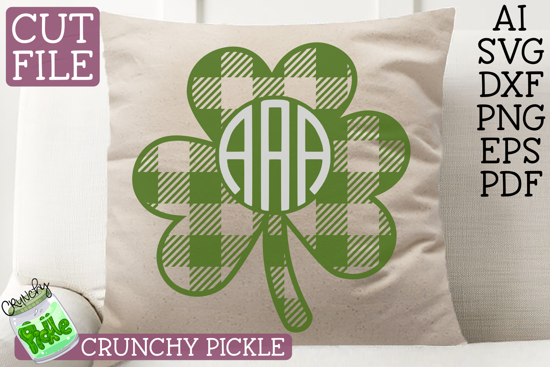 St Paddy Monograms - St Patrick's Day SVG File Bundle example image 4