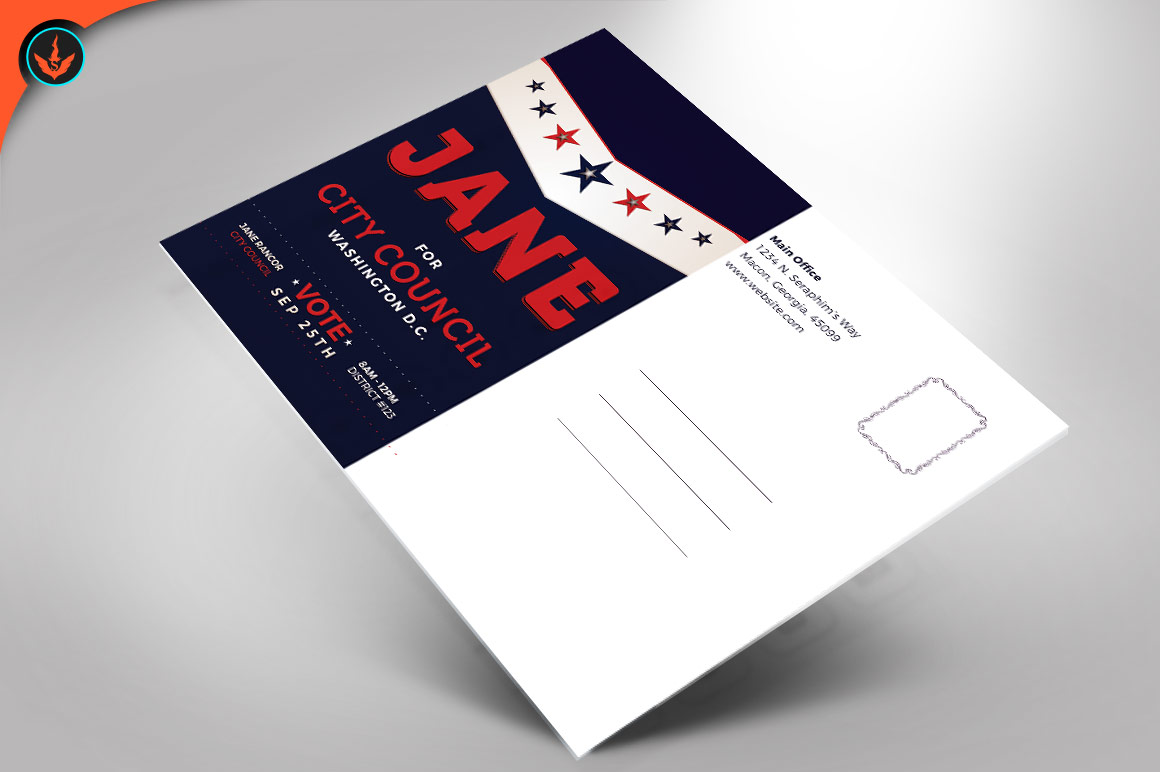 Political Flyer Photoshop, Word, Publisher Template 5 example image 2