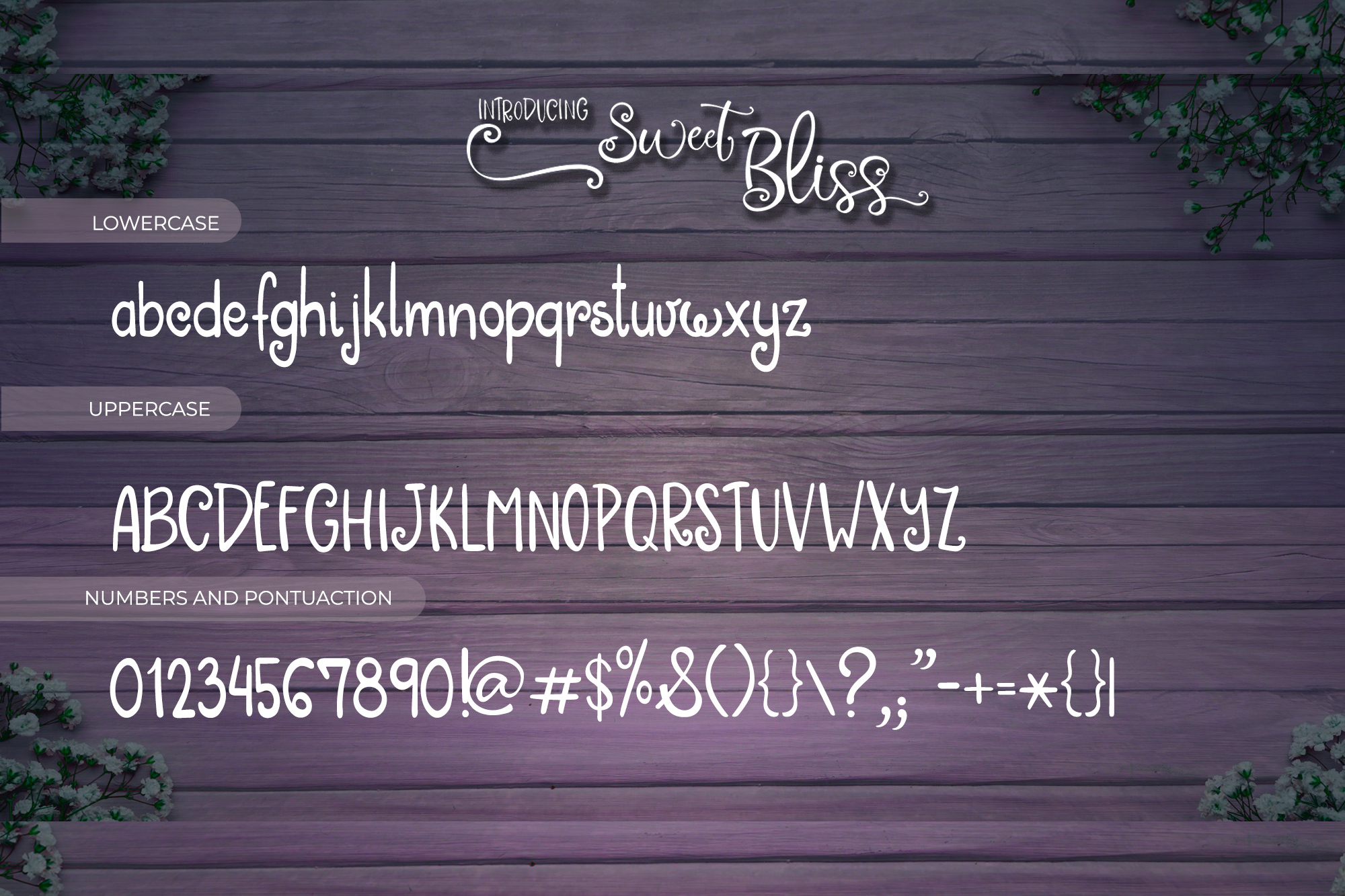 Sweet Bliss Font Duo example image 7