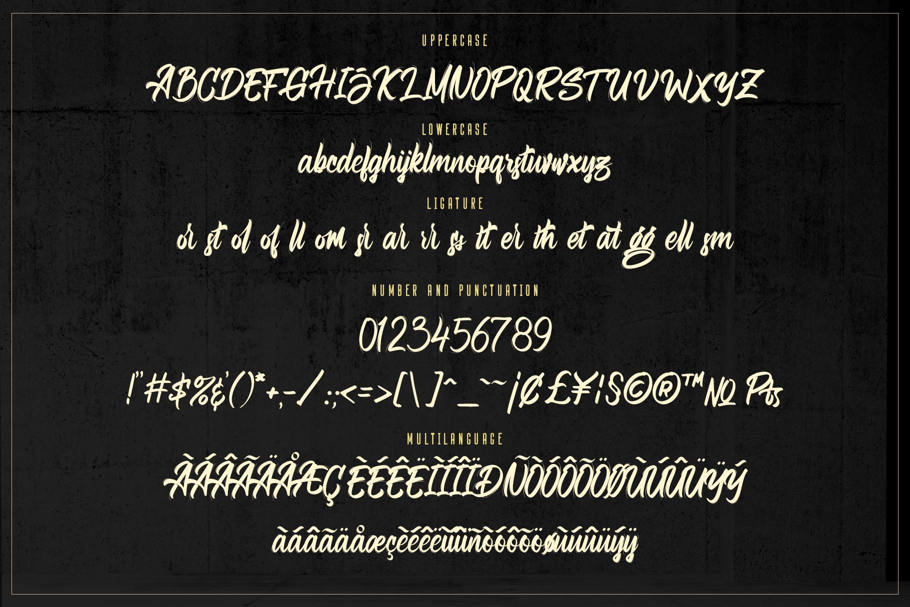 Bellsmore Brush Script example image 16