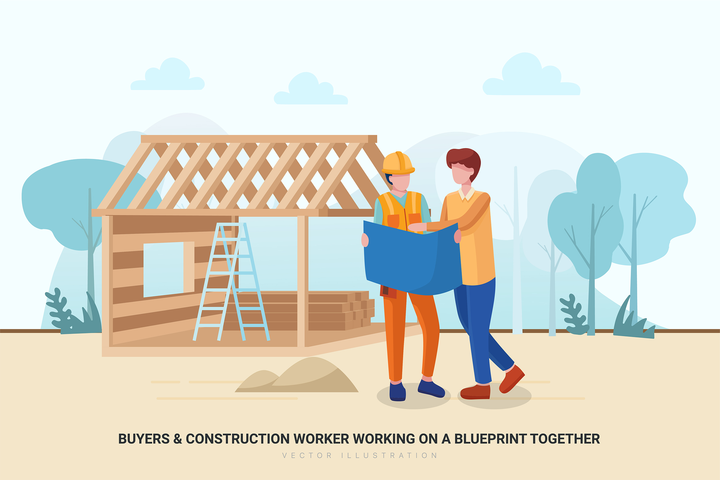 Construction & Real Estate Vector Illustration - Part 30 example image 5