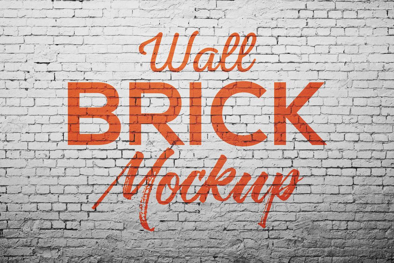 Wall brick Mock Up example image 1