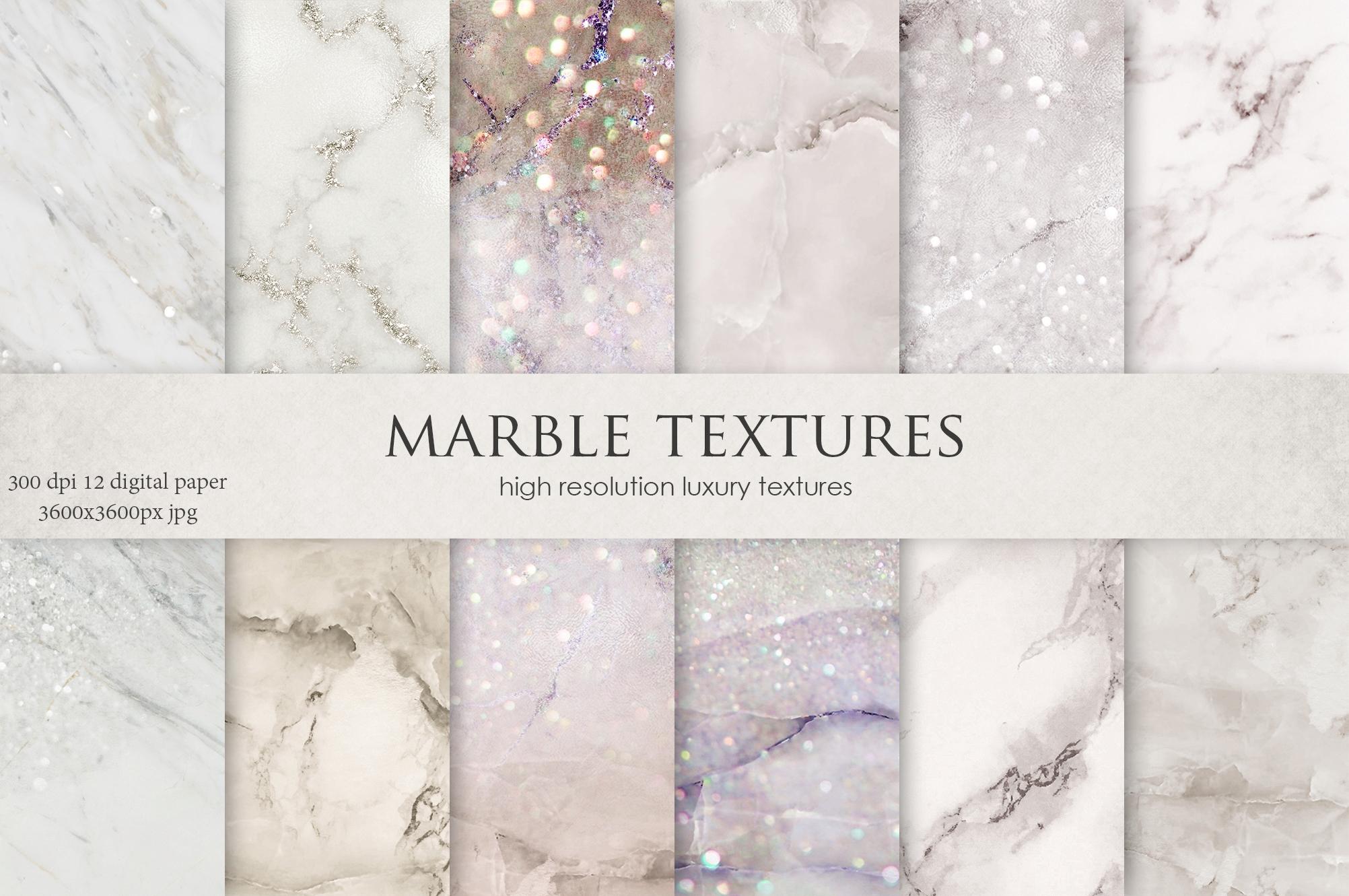 Marble Digital Paper BUNDLE example image 2