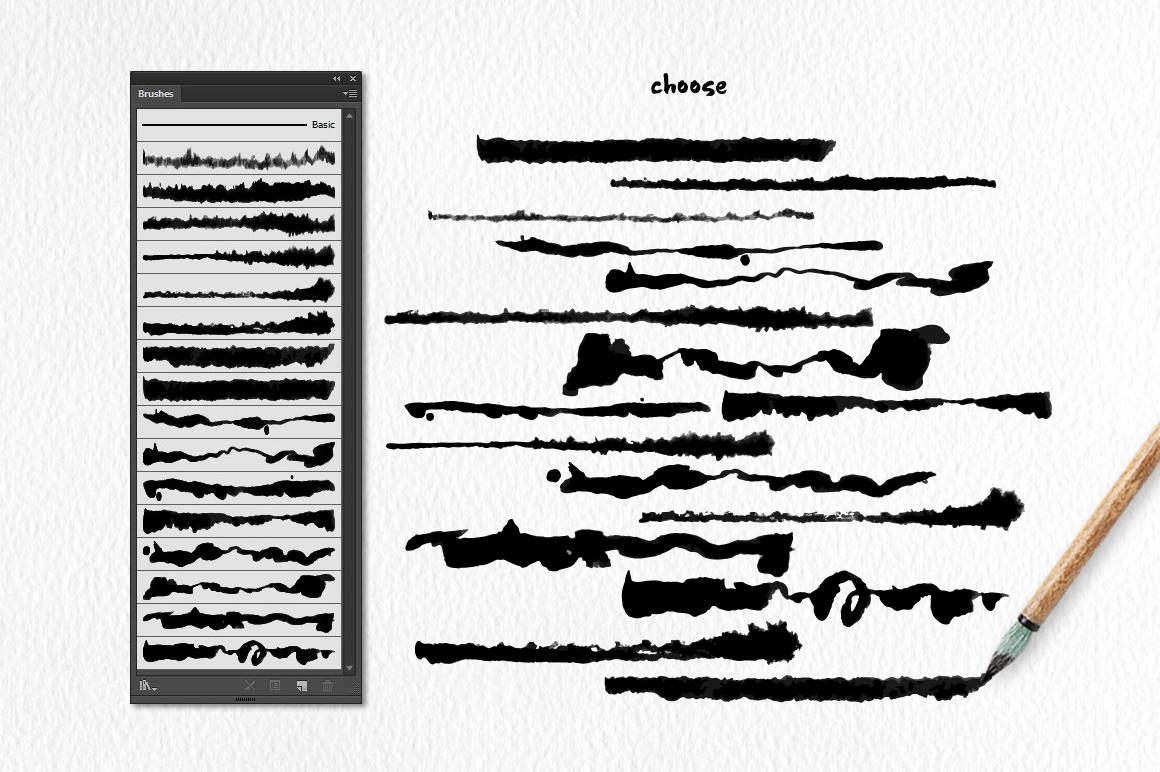 Script Brushes for Illustrator example image 2
