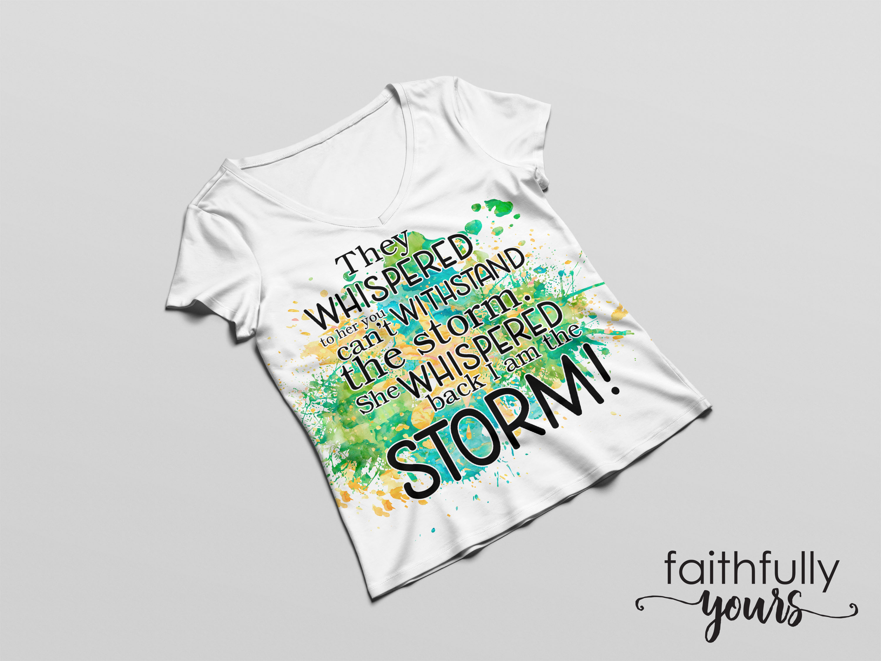 They whispered to her ! Sublimation Design example image 2