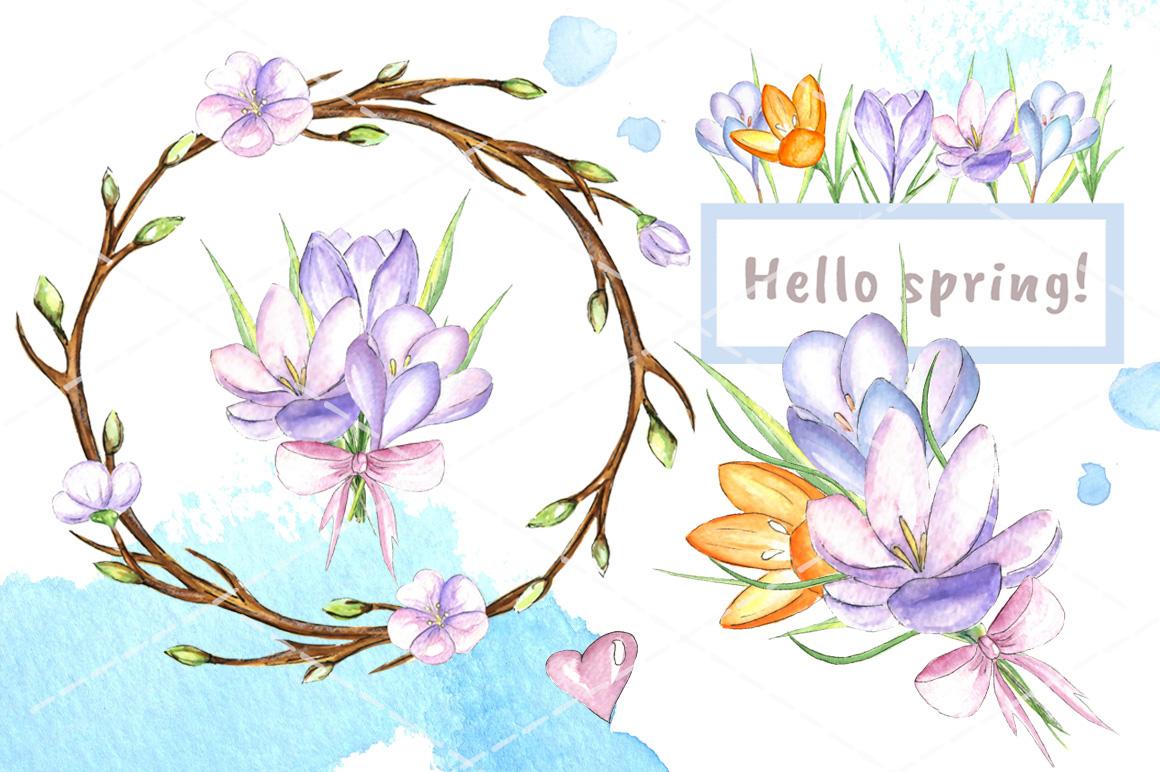 Happy Easter watercolor bundle example image 3