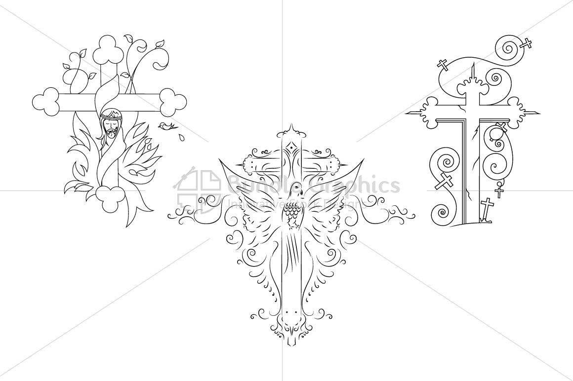 True Cross and Jesus Christ - Illustrative Artwork example image 1
