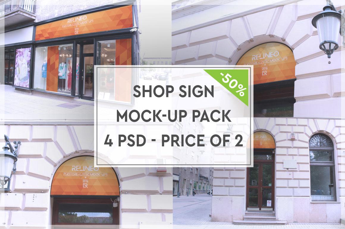 Shop Sign Mock-up Pack #3 example image 1