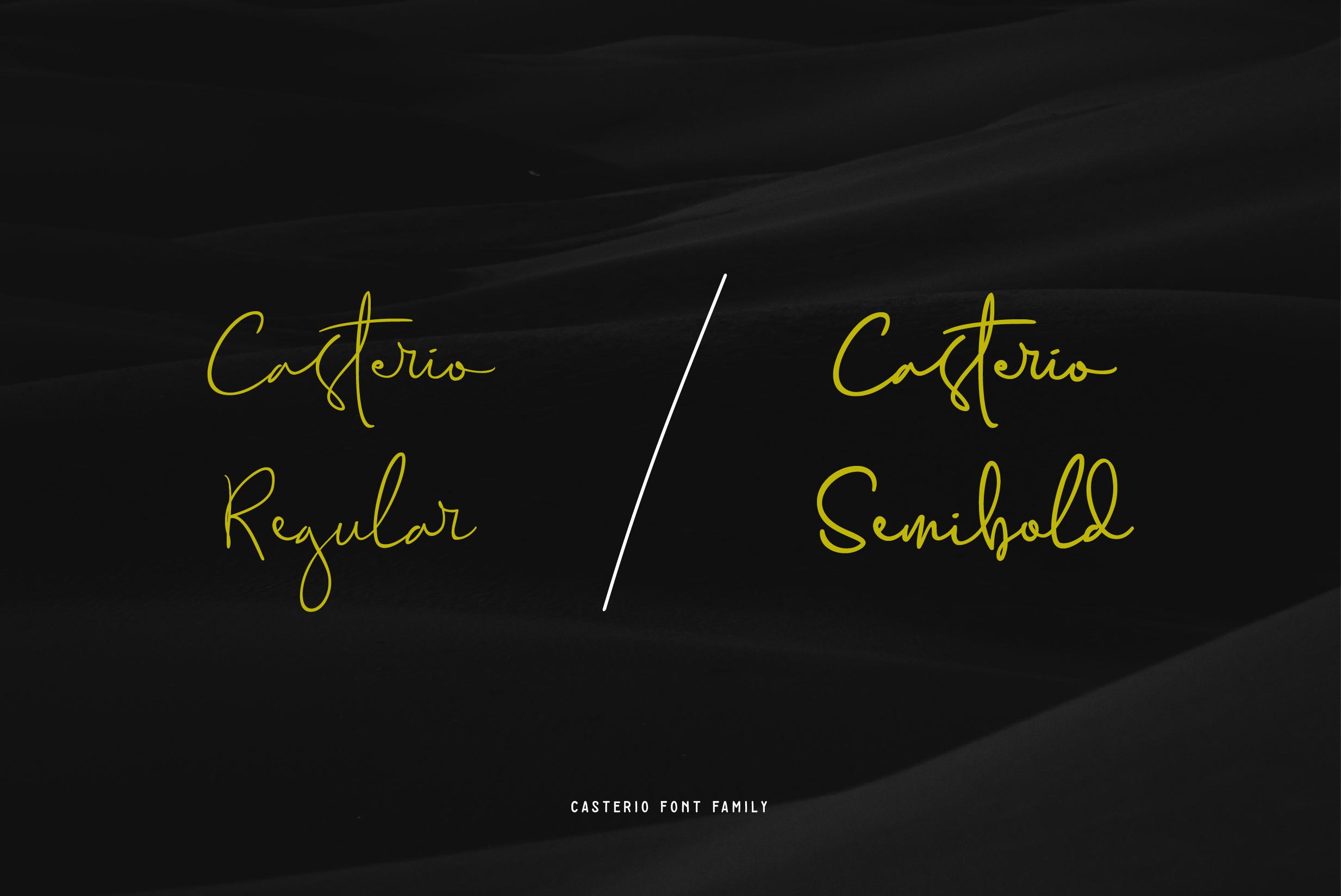 Casterio Signature Font example image 4