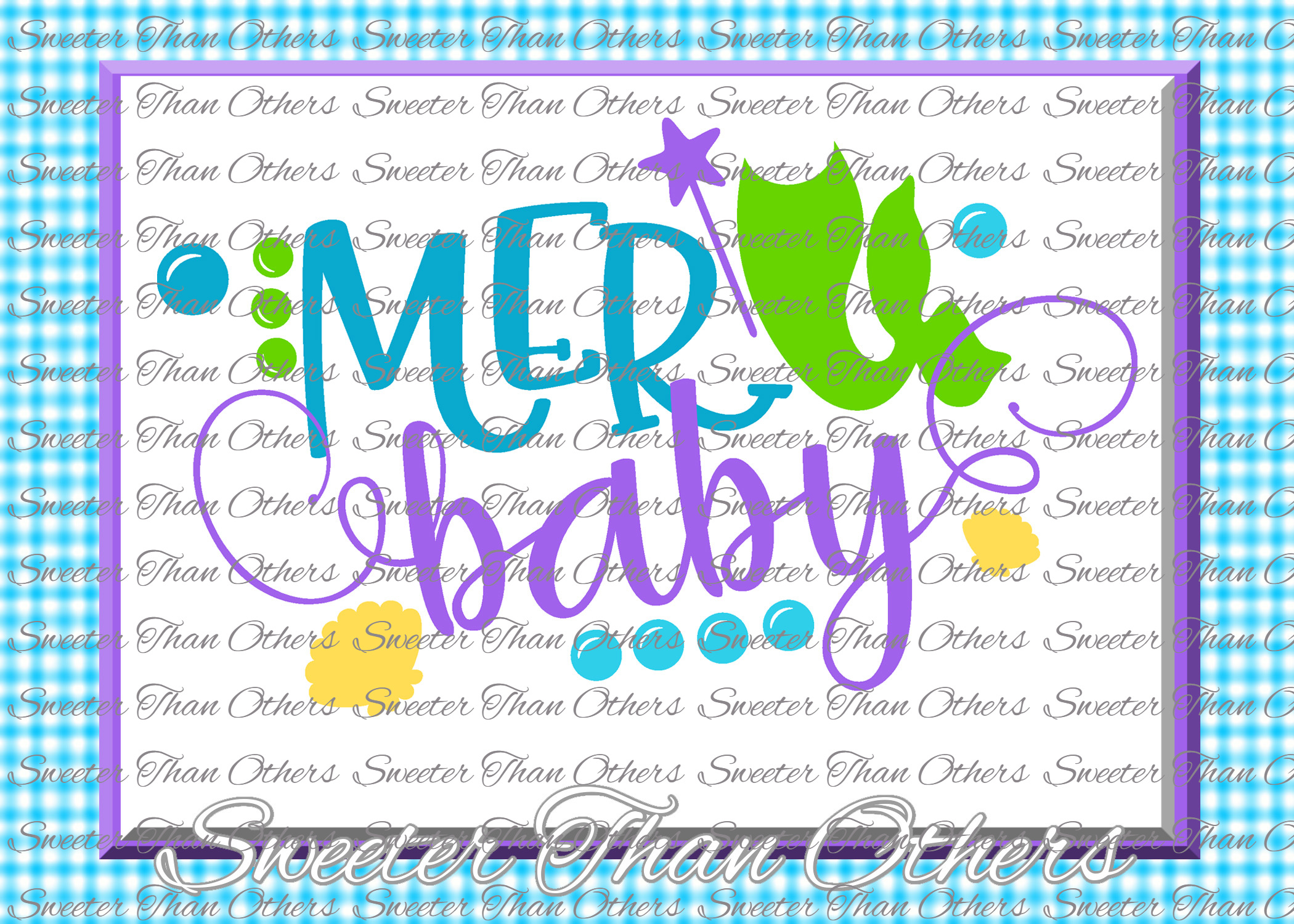 Mermaid Svg, Mermaid Life SVG, toddler file example image 1