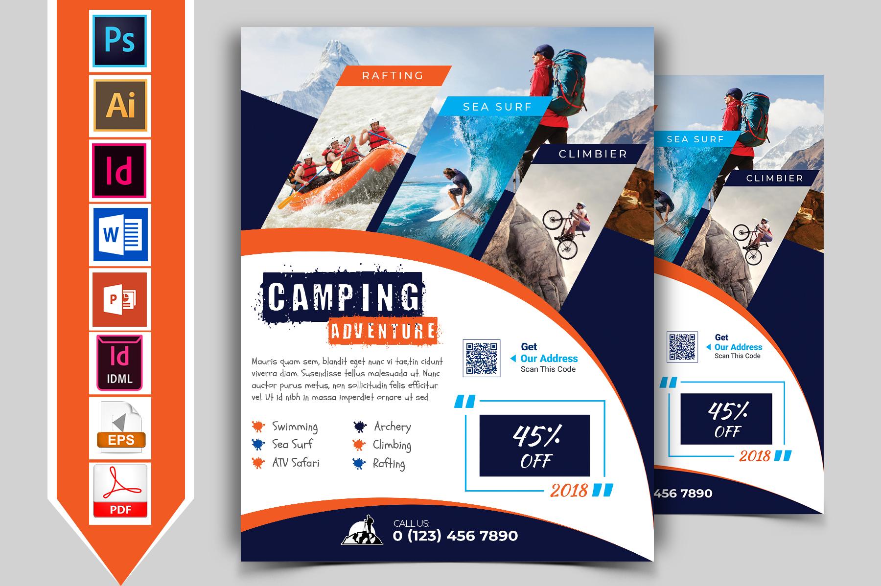 Camping Adventure Flyer Vol-03 example image 1