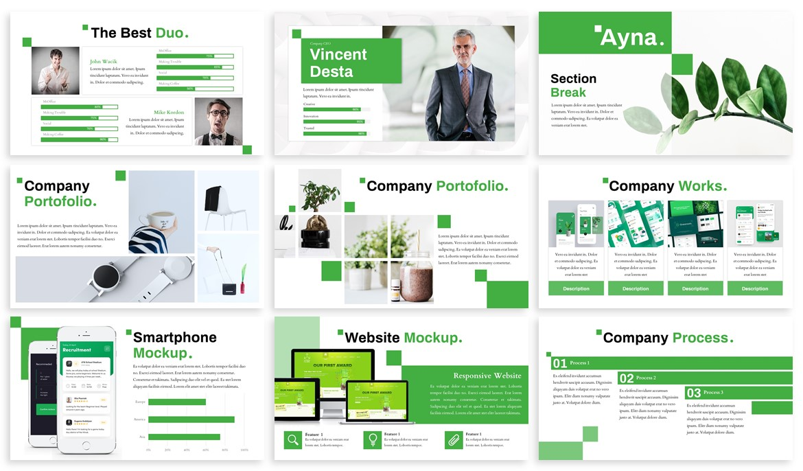Ayna - Creative Powerpoint Template example image 3