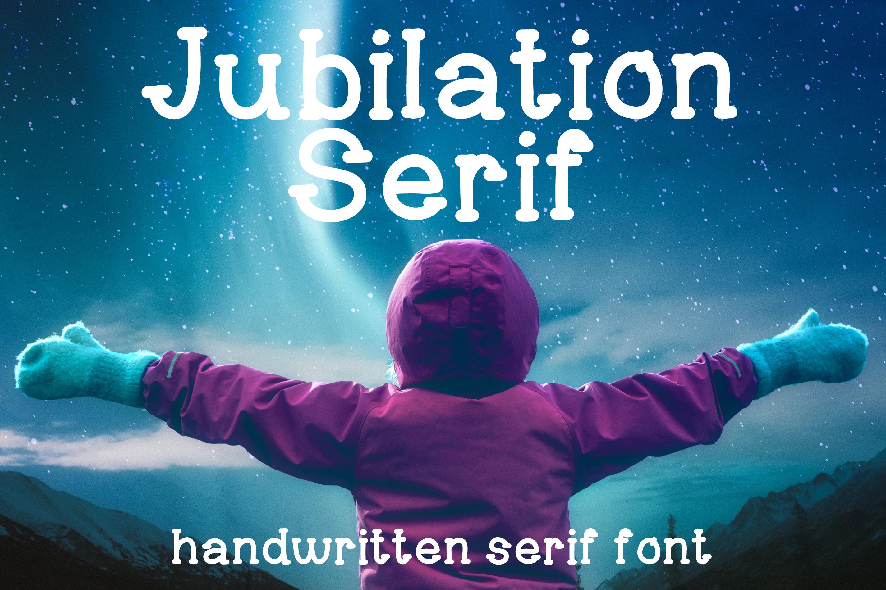 Jubilation Serif Handwritten Font example image 1