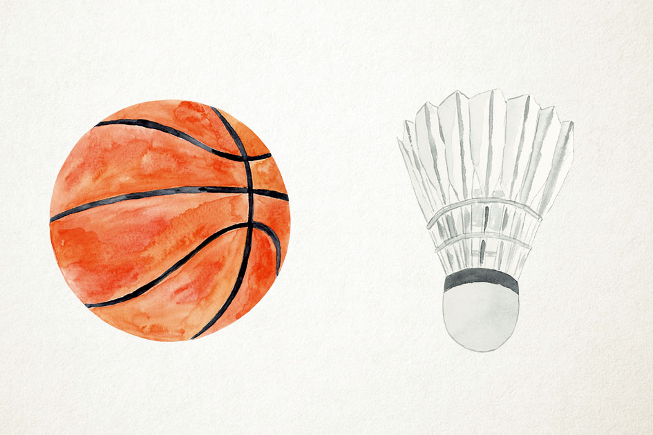 Watercolor Ball Games Clipart, Sports Clipart, Sports PNG example image 4