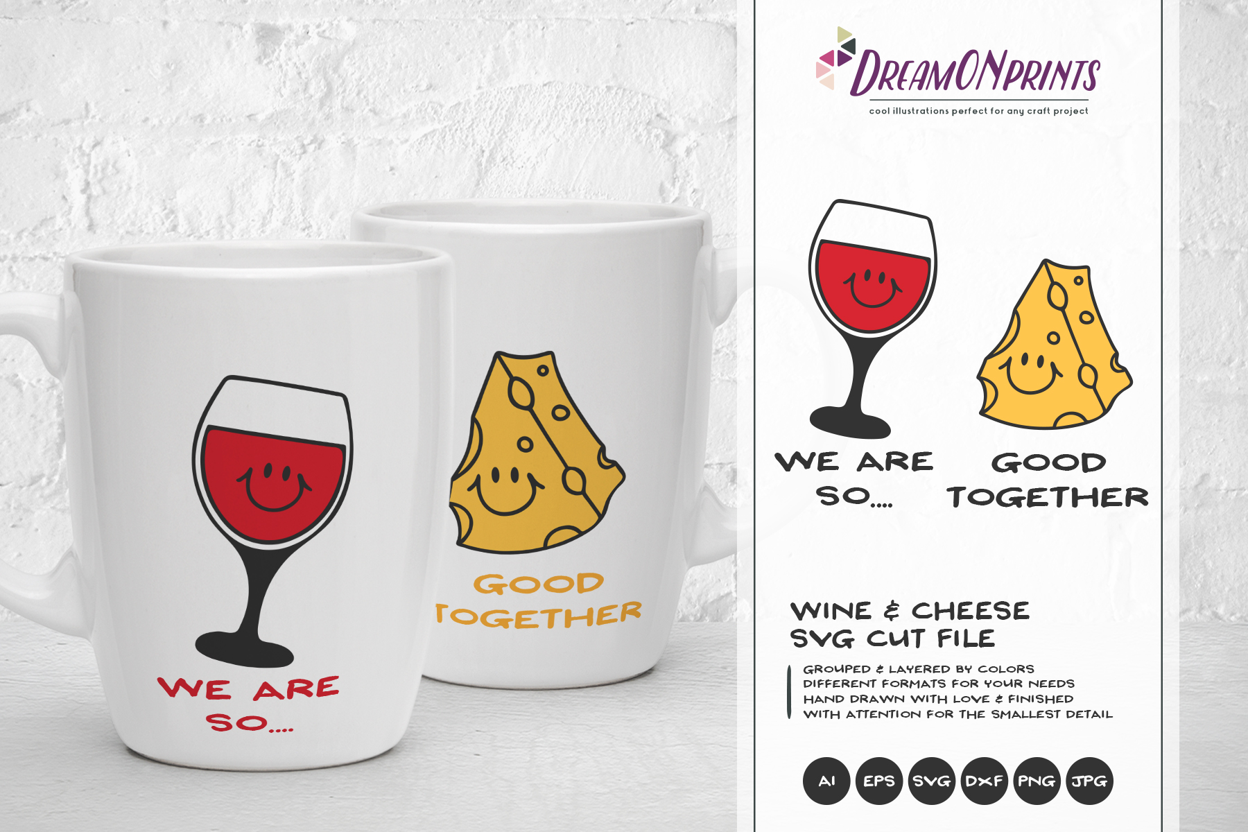 Wine and Cheese SVG BUNDLE - Bundle SVG Cut Files example image 11