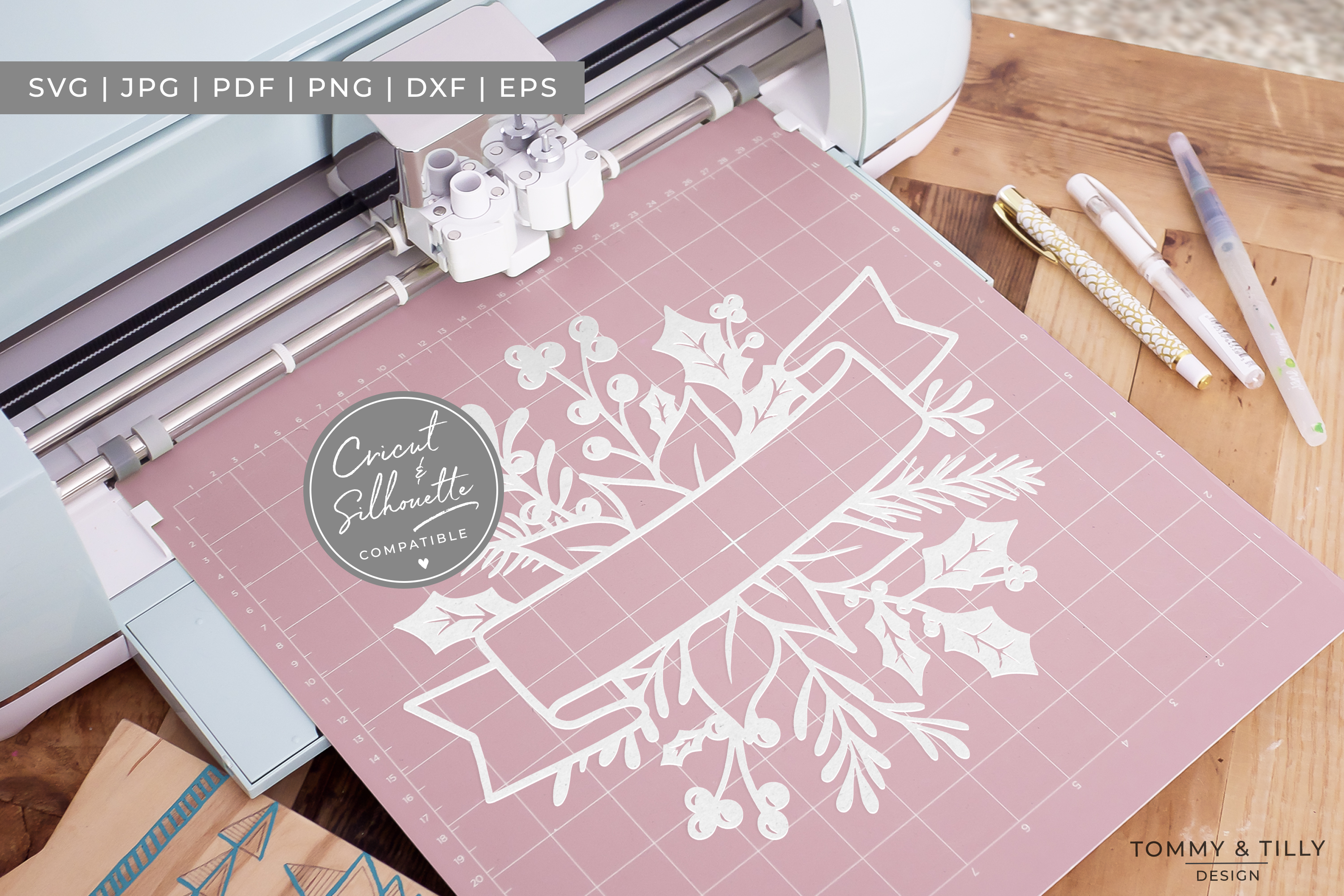 MEGA BUNDLE! 60 Christmas Cut Files - SVG | Papercut example image 12
