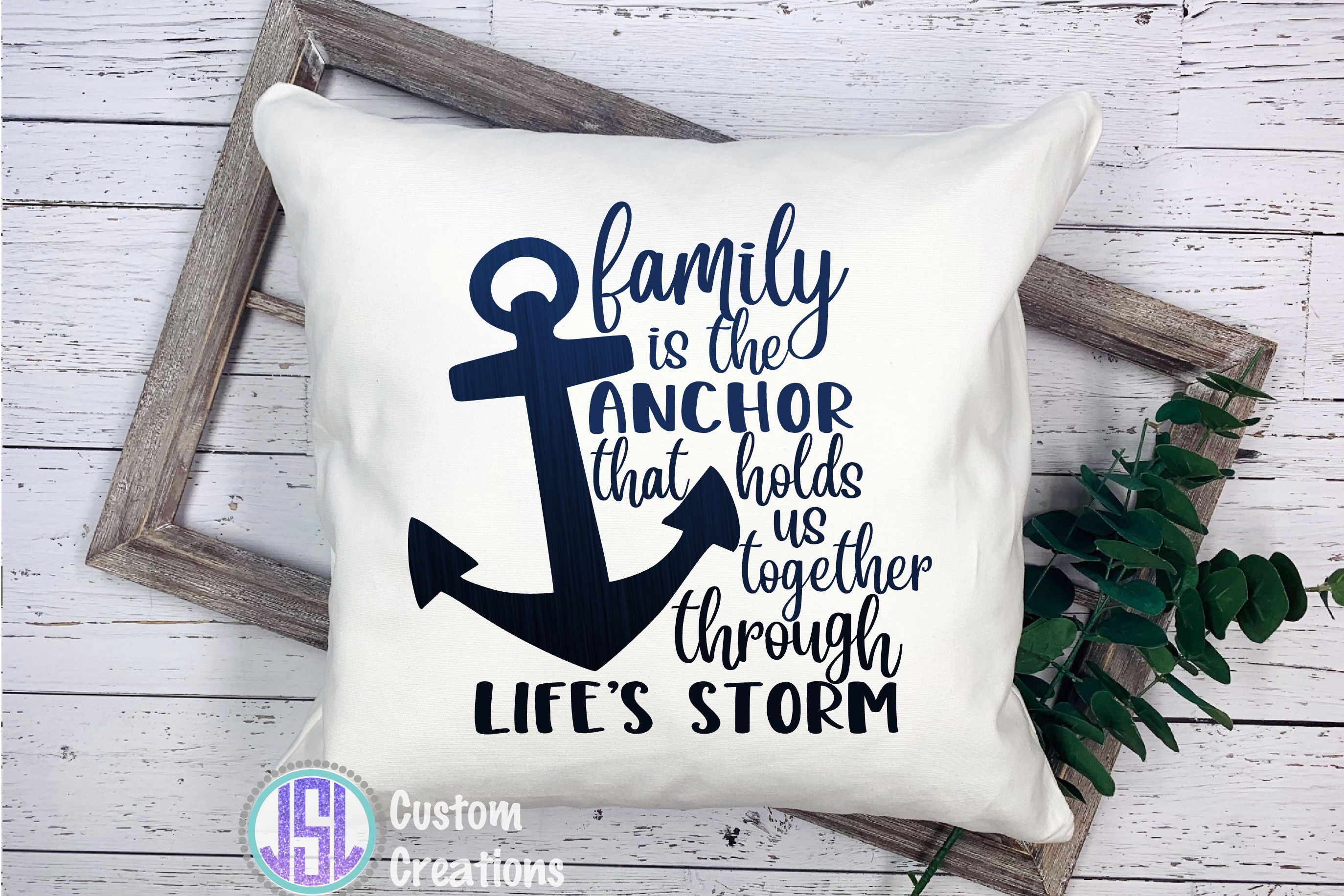 Family is the Anchor | SVG DXF EPS PNG example image 2