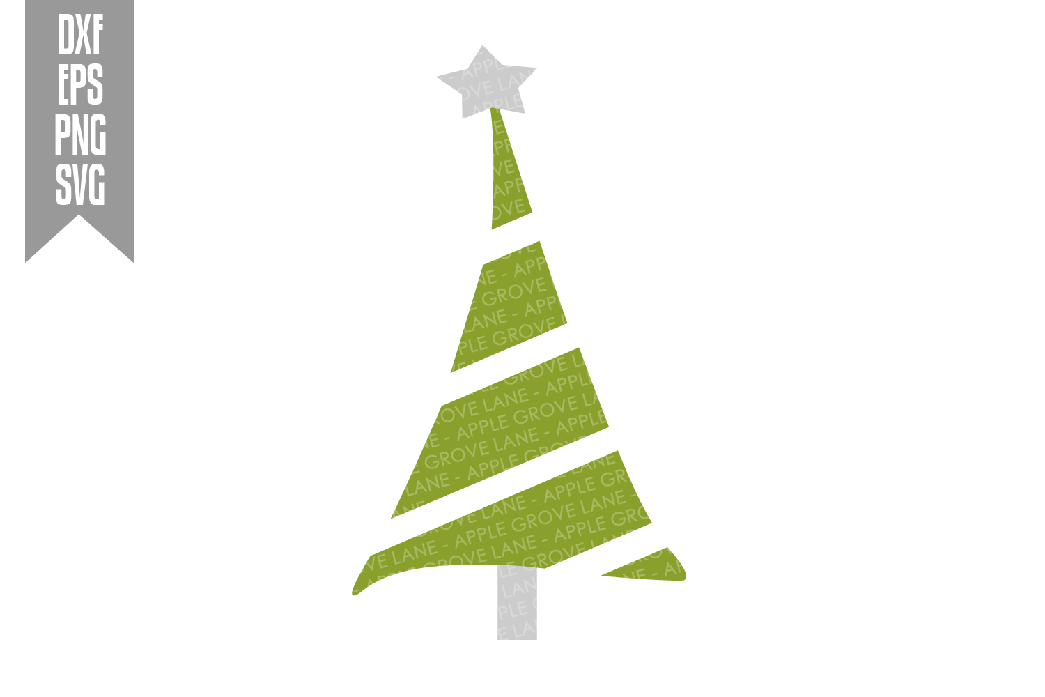 Christmas Tree Svg Bundle - 6 designs included - Svg File example image 3